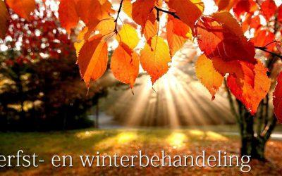 HERFST/WINTER BEHANDELING
